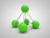 Geïsoleerdee 3d molecule Vector Illustratie