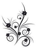 Geïsoleerdee Abstracte Bloemen vector illustratie