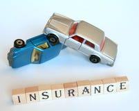 Geïsoleerdee autoverzekering Stock Foto's
