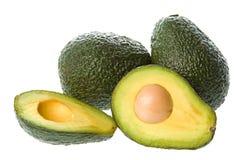 Geïsoleerdee avocado's Royalty-vrije Stock Afbeelding
