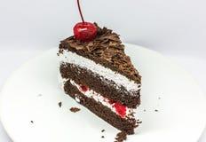 Geïsoleerdee chocoladecake Royalty-vrije Stock Foto's