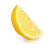 Geïsoleerdee citroen Royalty-vrije Stock Afbeeldingen