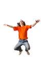 Geïsoleerdee danser royalty-vrije stock foto's
