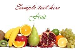 Geïsoleerdee de achtergrond van het fruit Royalty-vrije Stock Fotografie