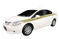 Geïsoleerdee de auto van de taxi Stock Afbeeldingen
