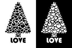 Geïsoleerdee de boom van de liefde Royalty-vrije Stock Afbeelding