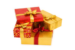 Geïsoleerdee de dozen van de gift Royalty-vrije Stock Afbeelding