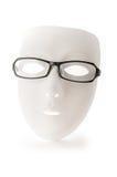 Geïsoleerdee de glazen van het masker en van de lezing Royalty-vrije Stock Foto