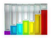 Geïsoleerdee de Grafiek van de regenboog Royalty-vrije Stock Foto