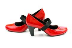 Geïsoleerdee de schoenen van de vrouw Royalty-vrije Stock Afbeeldingen