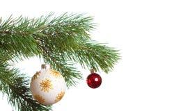 Geïsoleerdee de spar van Kerstmis Royalty-vrije Stock Afbeelding