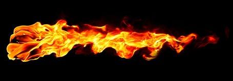 Geïsoleerdee de vlam van de brand stock fotografie