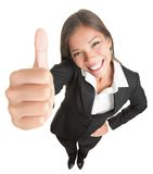 Geïsoleerdee de vrouw van het succes Stock Foto