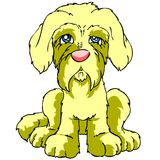 Geïsoleerdee droevige puppyhond royalty-vrije illustratie