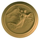 Geïsoleerdee engel in Pleister, Royalty-vrije Stock Fotografie