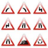 Geïsoleerdee Europese verkeersteken Stock Foto's