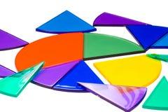 Geïsoleerdee fractiecirkels rond een cirkelgrafiek Stock Afbeeldingen