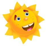 Geïsoleerdee gelukkige zon Stock Afbeelding