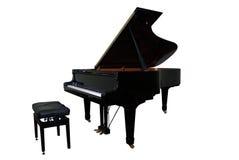 Geïsoleerdee grote piano Stock Fotografie