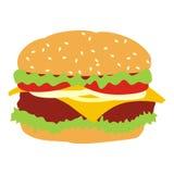 Geïsoleerdee hamburger Royalty-vrije Illustratie