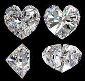 Geïsoleerdee het hart van de diamant Stock Afbeeldingen