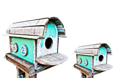 Geïsoleerdee het Huis van de vogel Stock Fotografie