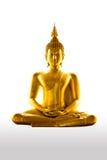 Geïsoleerdee het standbeeld van Buddism royalty-vrije stock foto