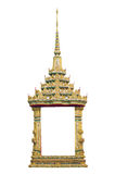 Geïsoleerdee het venster van de tempel Royalty-vrije Stock Afbeeldingen