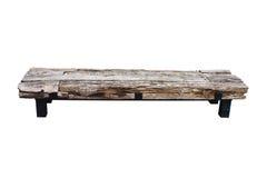 Geïsoleerdee houten bank Stock Foto