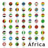 Geïsoleerdee internationale vlaggen Stock Afbeelding