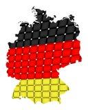 Geïsoleerdee kaart van Duitsland 09 Stock Fotografie