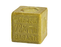 Geïsoleerdee olijfoliezeep, Royalty-vrije Stock Afbeelding