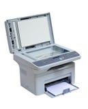 Geïsoleerdee printer en scanner Stock Foto