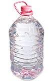 Geïsoleerdee roze vijf literfles water Stock Afbeelding