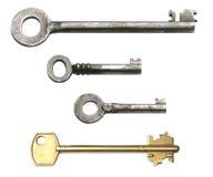 Geïsoleerdee sleutels, Stock Afbeeldingen