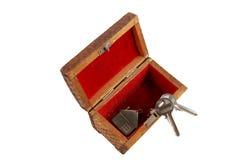 Geïsoleerdee sleutels Royalty-vrije Stock Afbeeldingen