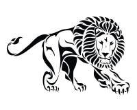 Geïsoleerdee stammenleeuwtatoegering royalty-vrije illustratie