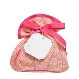 Geïsoleerdee voorwerpen: zak met giftmarkering Royalty-vrije Stock Foto's