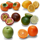 Geïsoleerdee vruchten Stock Afbeelding
