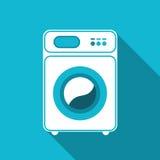 Geïsoleerdee wasmachine Vooraanzicht, close-up Royalty-vrije Stock Foto