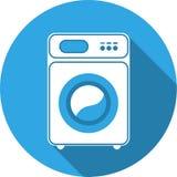 Geïsoleerdee wasmachine Vooraanzicht, close-up Stock Foto