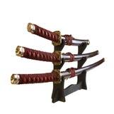 Geïsoleerdee zwaarden royalty-vrije stock fotografie