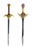Geïsoleerdee zwaarden Royalty-vrije Stock Afbeeldingen