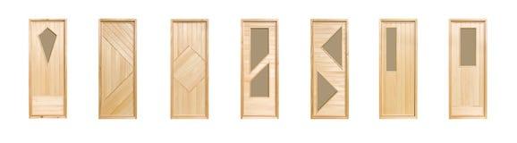 Geïsoleerdef de deuren van de linde stock afbeelding