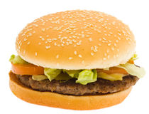 Geïsoleerdef hamburger, Stock Fotografie