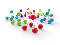Geïsoleerdeg 3d molecule Vector Illustratie
