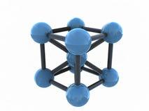Geïsoleerdeg 3d molecule - geef terug Stock Afbeelding