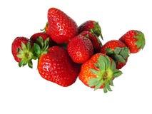 GeïsoleerdeG aardbeien Stock Foto