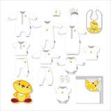 Geïsoleerdeg babydoeken: voor pasgeborenen vector illustratie