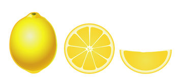 Geïsoleerdeg citroenen (eenvoudig) vector illustratie